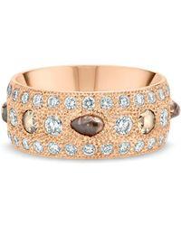 De Beers Кольцо Talisman Из Розового Золота С Бриллиантами - Металлик