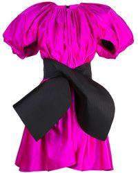 Dice Kayek Oversized Flared Dress - Pink
