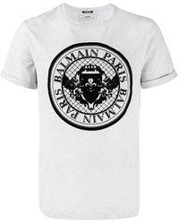 Balmain ロゴ Tシャツ - グレー