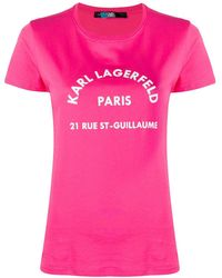 Karl Lagerfeld - Address Logo Tシャツ - Lyst