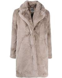 Apparis Sasha Faux-fur Coat - Grey