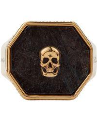 Alexander McQueen Перстень С Декором Skull - Черный