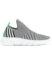 Kendall + Kylie - Striped Knitted Sneakers - Lyst