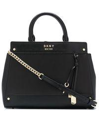 DKNY Thelma レザー ハンドバッグ - ブラック