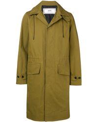 AMI Cappotto con cappuccio Mac - Verde