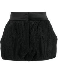 Dolce & Gabbana シルク ショートパンツ - ブラック
