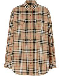 Burberry Рубашка Оверсайз В Клетку Vintage Check - Многоцветный