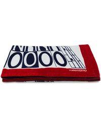 Valentino Serviette de plage imprimée - Rouge