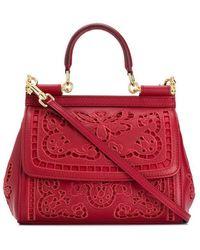 Dolce & Gabbana - Sac porté épaule à fleurs - Lyst