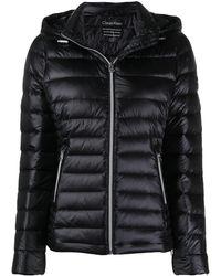 Calvin Klein フーデッド パデッドジャケット - ブラック