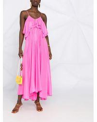 Forte Forte Платье С Оборками - Розовый