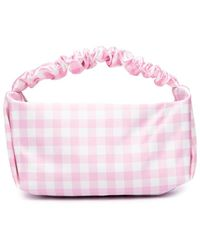 Alexander Wang Scrunchie Gingham Mini Bag - Pink
