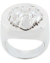 Versus    Lion Head Signet Ring   Lyst