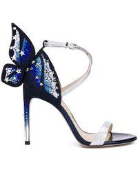 Sophia Webster Chiara 115 Embellished Sandal - Blue