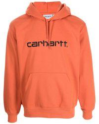 Carhartt WIP ロゴ パーカー - オレンジ