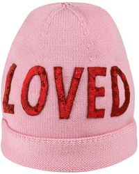 """Gucci """"wool Hat With Sequin """"""""loved"""""""""""" - Roze"""