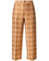 Aspesi - Checked Trousers - Lyst