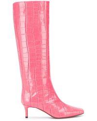 L'Autre Chose クロコダイルパターン ブーツ - ピンク