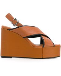 Clergerie Sandales Mirane Wedge - Marron