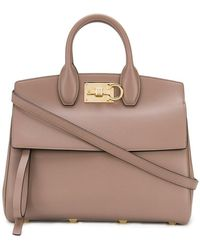 Ferragamo - Studio Leather Tote Bag - Lyst