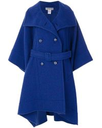 Issey Miyake - Oversize Belted Coat - Lyst