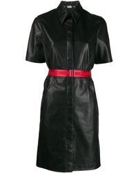 Karl Lagerfeld Платье-рубашка Из Искусственной Кожи - Черный