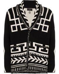 Alanui Gebreid Vest Met Intarsia - Zwart