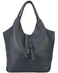Henry Beguelin Tassel Detail Tote Bag - Blue