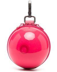 Marine Serre Ball ファスナー財布 - ピンク