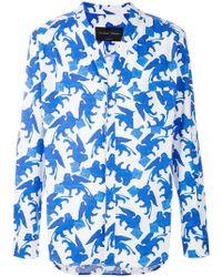 Christian Pellizzari - V-neck Printed Shirt - Lyst