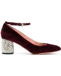 Rochas Embellished Heel Pumps - Rood