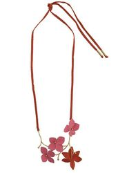 Marni Collar con aplique floral - Metálico