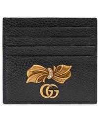 Gucci Porte-cartes à détail de nœud - Noir