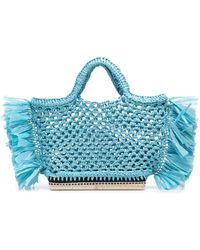 Altuzarra Woven Tote Bag - Blue