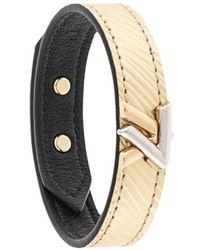 Louis Vuitton Bracelet à design gravé - Métallisé