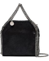 Stella McCartney Black Tiny Falabella Shoulder Bag - Zwart