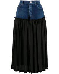 Y's Yohji Yamamoto プリーツ デニムスカート - ブラック