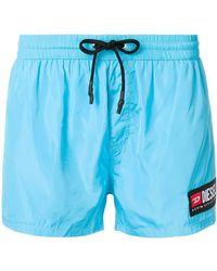 DIESEL - Side Logo Patch Swim Shorts - Lyst