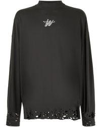we11done Distressed-hem Sweatshirt - Grey