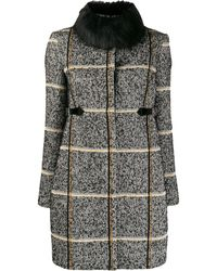Liu Jo Fur Collar Coat - Black