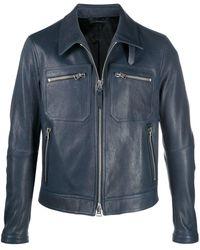 Tom Ford ジップポケット ボンバージャケット - ブルー