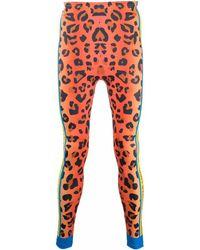 Walter Van Beirendonck Leopard-print Bike leggings - Orange