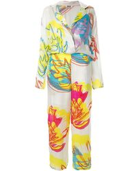 All Things Mochi Printed Jumpsuit - White