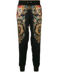 Dolce & Gabbana プリント トラックパンツ - ブラック