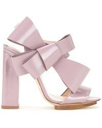 Delpozo - Oversized Bow Sandals - Lyst