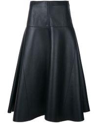 Fendi - Flared Midi Skirt - Lyst