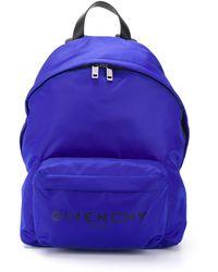 Givenchy ロゴ バックパック - ブルー