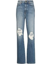 Khaite Danielle Distressed-effect Jeans - Blue