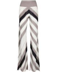 Rick Owens Stripe-print Flared Trousers - Multicolour