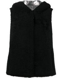 Yves Salomon Reversible Shearling Gilet - Black